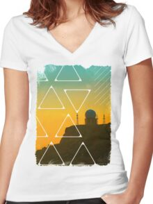 Observatory Women's Fitted V-Neck T-Shirt