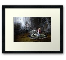 I'll use the light that comes to me from your halo Framed Print