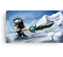 League of Legends : Teemo Tryndamere !! Canvas Print