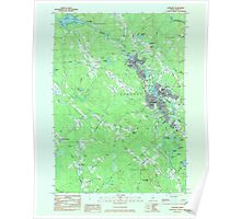 Maine USGS Historical Map Sanford 807123 1983 24000 Poster