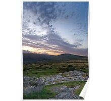 sunset on Dartmoor Poster