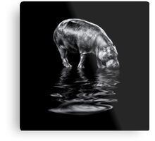 If I drink water, I will grow! Metal Print