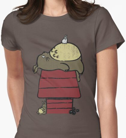 My neighbor Peanut Womens Fitted T-Shirt