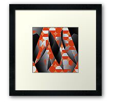 Geometry in red Framed Print