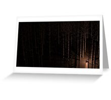Desolate Forest Greeting Card