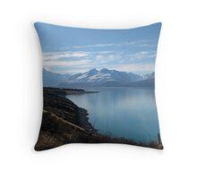 Lake Pukaki, Mount Cook Throw Pillow