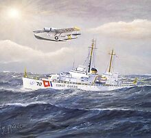 U. S. Coast Guard Cutter Pontchartrain and CG PBY by William H. RaVell III