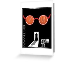 Batman: Arkham City Minimal Greeting Card