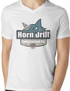 Pokemon - Horn Drill Construction Co. (Distressed) Mens V-Neck T-Shirt