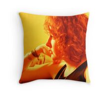 You Talk She Listens Throw Pillow