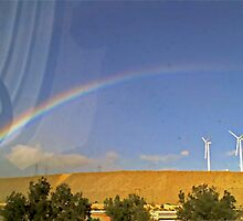 Wind Farm Over The Rainbow - Palm Springs, California by Stephen Laycock