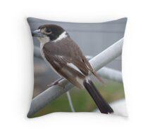 Female Butcher Bird Throw Pillow