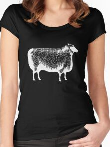 White Sheep Women's Fitted Scoop T-Shirt