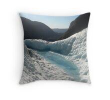 Glacial Melt Pool Throw Pillow