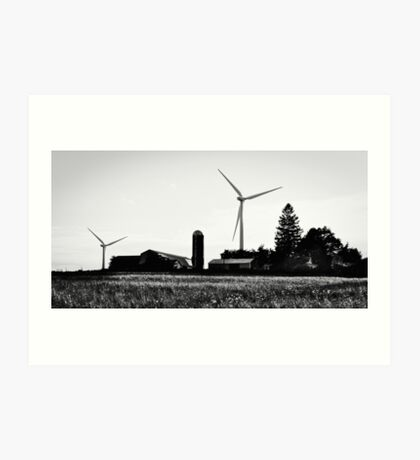 Farming the land and sky Art Print