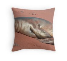 Napping on the Beach Throw Pillow