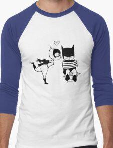 Catwoman Kissing Batman Men's Baseball ¾ T-Shirt