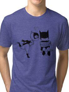 Catwoman Kissing Batman Tri-blend T-Shirt