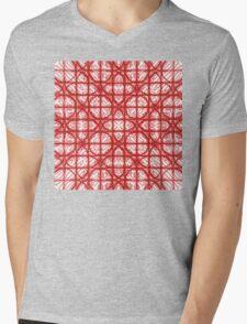 New Dimenson Red  Mens V-Neck T-Shirt