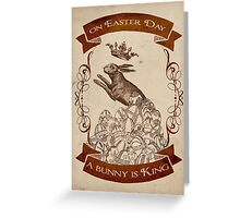 Bunny King Greeting Card