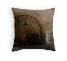 quiet room within a mission Throw Pillow