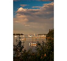 Evening at Southwest Harbor, Maine Photographic Print