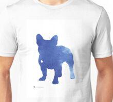 Turquoise french bulldog silhouette Unisex T-Shirt