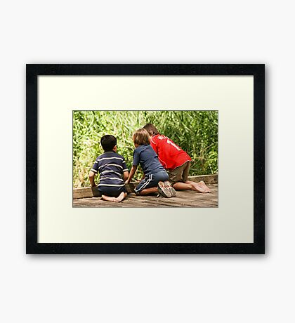 Boys! Framed Print