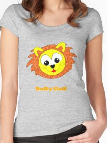 A Baby Lion T-shirt & leggings, etc Women's Fitted Scoop T-Shirt