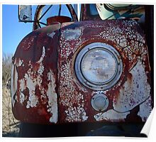 Front of Mack Truck Poster