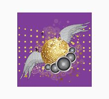 Gold disco ball with wings Unisex T-Shirt