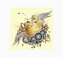 Gold disco ball with wings 2 Unisex T-Shirt