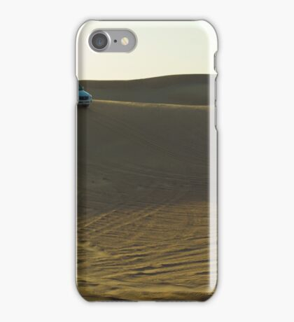 sunset at the desert iPhone Case/Skin