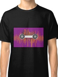 Music background with halftone Classic T-Shirt