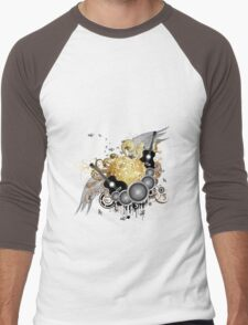 Abstract party design 7 Men's Baseball ¾ T-Shirt