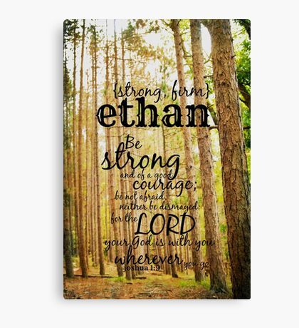 Ethan strong Canvas Print