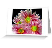 Neon Daisies!!  Greeting Card
