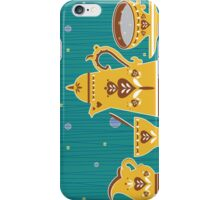 Retro coffee for one illustration iPhone Case/Skin