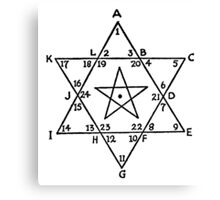 Magen David with five-pointed star inside it Canvas Print