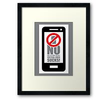 No Vertical Video No.2 Framed Print