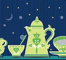 Retro coffee for one illustration by kitschstock