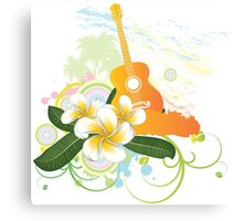 Tropical music party 3 Canvas Print