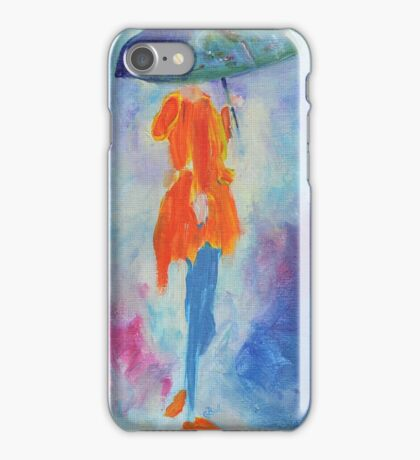 Girl with Umbrella iPhone Case/Skin