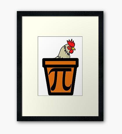 Chicken Pot Pi Framed Print