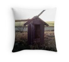Ramshackled-The Outhouse Throw Pillow
