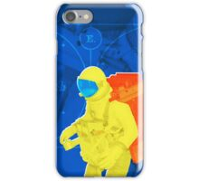 Earth to spaceman... in blue and yellow iPhone Case/Skin