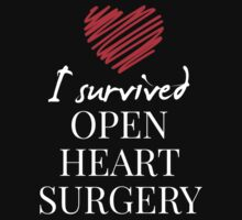 I Love Surrived Open Heart Surgery - T Shirt & Hoodies by lovelyarts