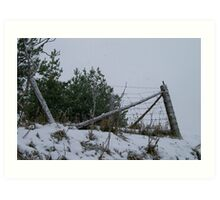 A Fence in Winter... Art Print