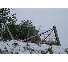 A Fence in Winter... Photographic Print