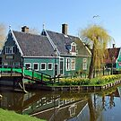 Springtime at Zaanse Schans - Netherlands by Arie Koene